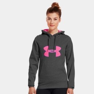 COPY - Under Armour gray and pink hooded sweatshi…